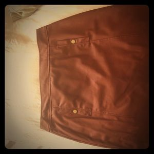 Brown leather skirt. Only worn once